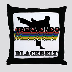 Taekwondo Black Belt Colors Throw Pillow
