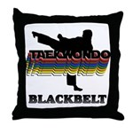 Taekwondo Black Belt Colors Throw Pillow