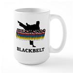 Taekwondo Black Belt Colors Large Mug