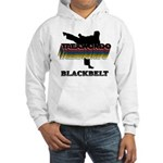 Taekwondo Black Belt Colors Hooded Sweatshirt