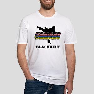 Taekwondo Black Belt Colors Fitted T-Shirt