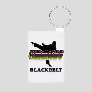 Taekwondo Black Belt Colors Aluminum Photo Keychai