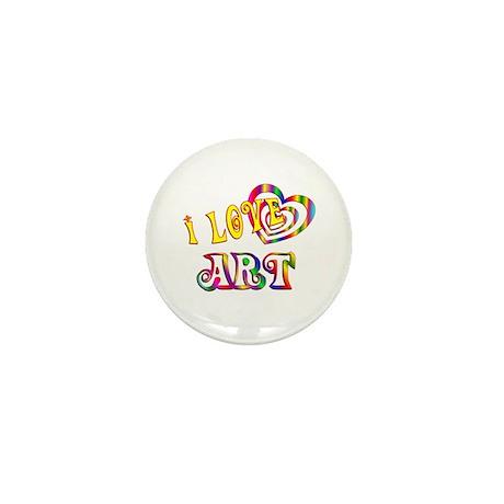 I Love Art Mini Button (10 pack)