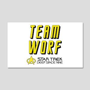 Team Worf Star Trek Deep Space Nine 22x14 Wall Pee