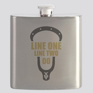 Custom Head Matte Gold Flask