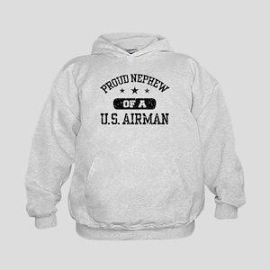 Proud Nephew of a US Airman Kids Hoodie