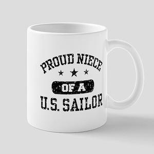 Proud Niece of a US Sailor Mug