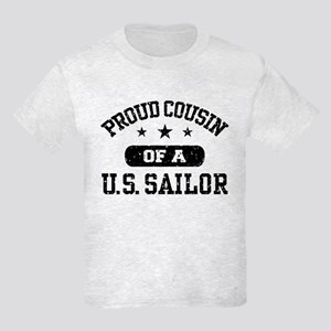 Proud Cousin of a US Sailor Kids Light T-Shirt