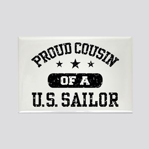 Proud Cousin of a US Sailor Rectangle Magnet