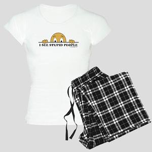 I See Stupid People Women's Light Pajamas