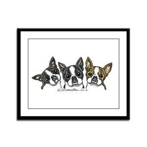 Three Bostons Framed Panel Print