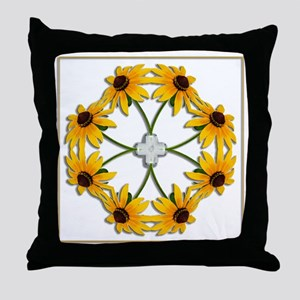 Black-Eyed Susan Pattern Throw Pillow
