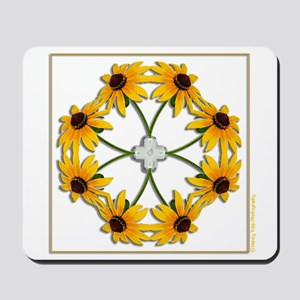 Black-Eyed Susan Pattern Mousepad