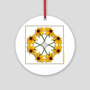 Black-Eyed Susan Pattern Ornament (Round)