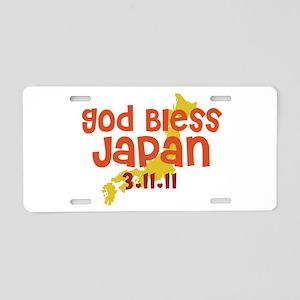 God Bless Japan Aluminum License Plate