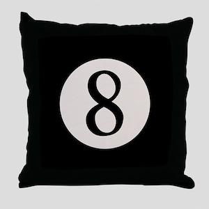 8-Ball 8 Throw Pillow