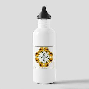 Black-Eyed Susan Pattern Stainless Water Bottle 1.