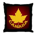 Canada Souvenir Varsity Throw Pillow
