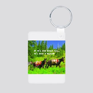 Mule Aluminum Photo Keychain
