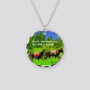Mule Necklace Circle Charm