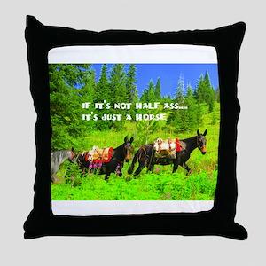 Mule Throw Pillow