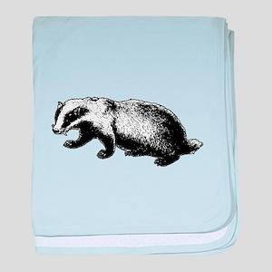 Honey Badger Doesn't Care baby blanket