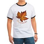 Canada Maple Leaf Ringer T