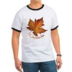 Canada Maple Leaf Ringer T