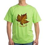 Canada Maple Leaf Green T-Shirt