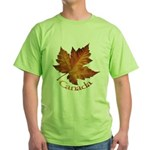 Canada Maple Leaf Green T-Shirt