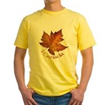 Canada Maple Leaf Yellow T-Shirt