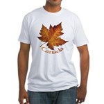 Canada Maple Leaf Fitted T-Shirt