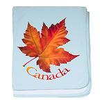 Canada Maple Leaf baby blanket