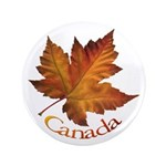 "Canada Maple Leaf 3.5"" Button"