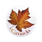 "Canada Maple Leaf 3.5"" Button"