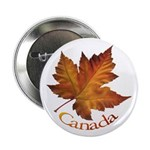"""Canada Maple Leaf 2.25"""" Button (100 pack)"""