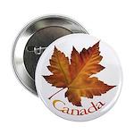 "Canada Maple Leaf 2.25"" Button"