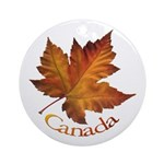 Canada Maple Leaf Ornament (Round)