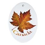 Canada Maple Leaf Ornament (Oval)