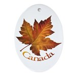 Canada Maple Leaf Ornament (Oval)