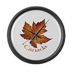 Canada Maple Leaf Large Wall Clock
