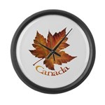 Canada Maple Leaf Large Wall Clock