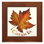 Canada Maple Leaf Framed Tile
