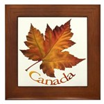 Canada Maple Leaf Framed Tile
