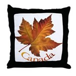 Canada Maple Leaf Throw Pillow