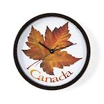 Canada Maple Leaf Wall Clock