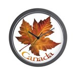 Canada Maple Leaf Wall Clock