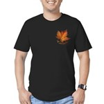 Canada Maple Leaf Men's Fitted T-Shirt (dark)