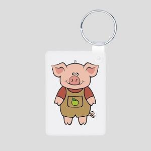 Piggy Aluminum Photo Keychain