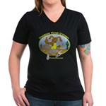Phoenix Hump D'Hash Women's V-Neck Dark T-Shirt
